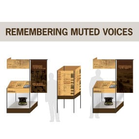 Remembering Muted Voices Museum Exhibit Design