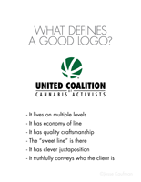United Coalition of Cannabis Activists logo presentation, page 10