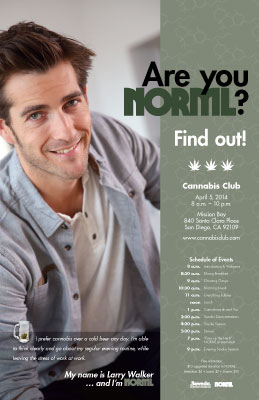 "Are You NORML? ad series 11""x17"" poster"