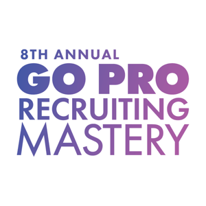 Go Pro Recruiting Mastery 2017 logo, purple