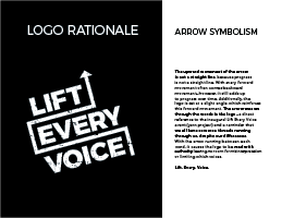 Lift Every Voice logo presentation, page 5