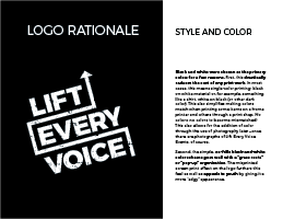 Lift Every Voice logo presentation, page 6