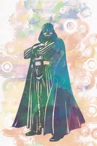 Darth Vader (Star Wars) watercolor poster