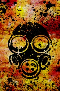 Gask mask abstract poster