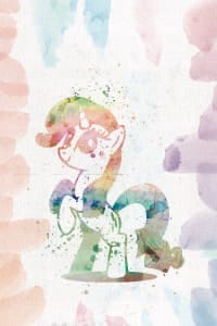 My Little Pony watercolor poster