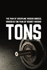 Regret Weighs Tons poster